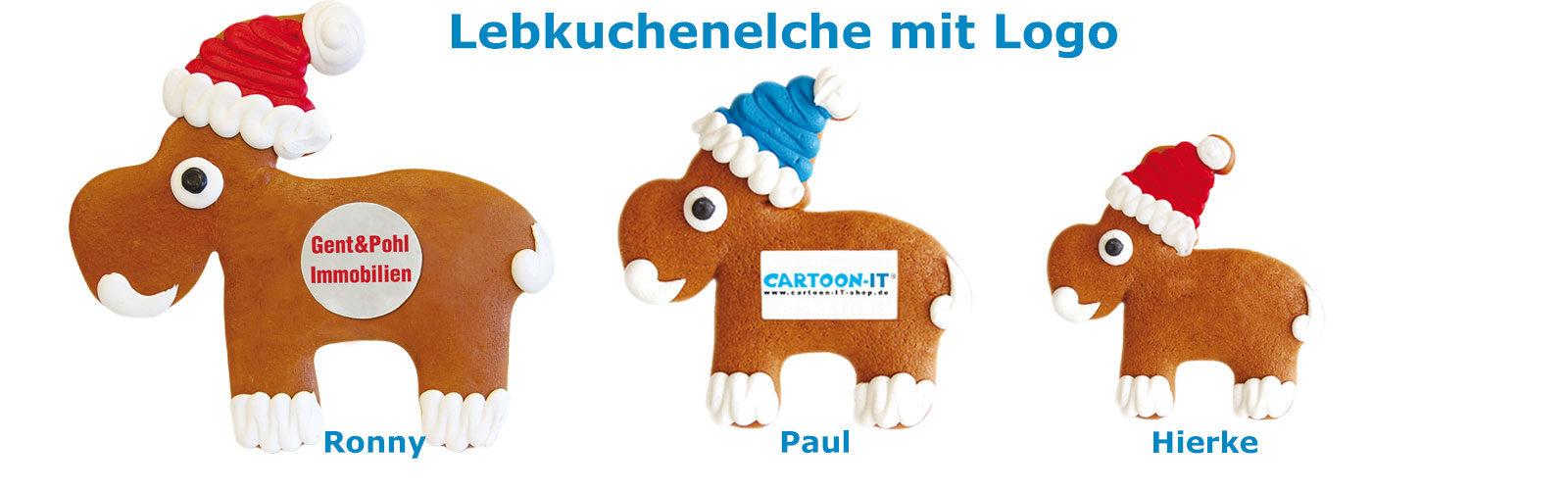 Lebkuchenelche mit Logo als Werbegeschenk
