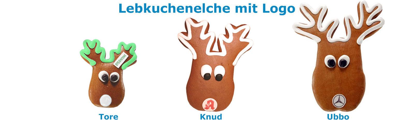 Lebkuchen Elchkopf individuell mit Logo