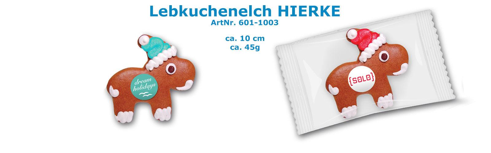 Lebkuchenelch HIERKE mit Logo